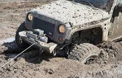 Recupero con verricello nel fango profondo