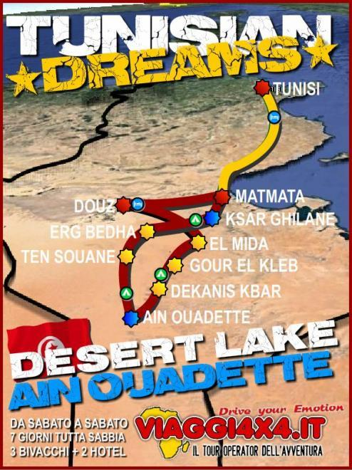 TUNISIA 4X4 DESERT DREAMS LAKE OUADETTE