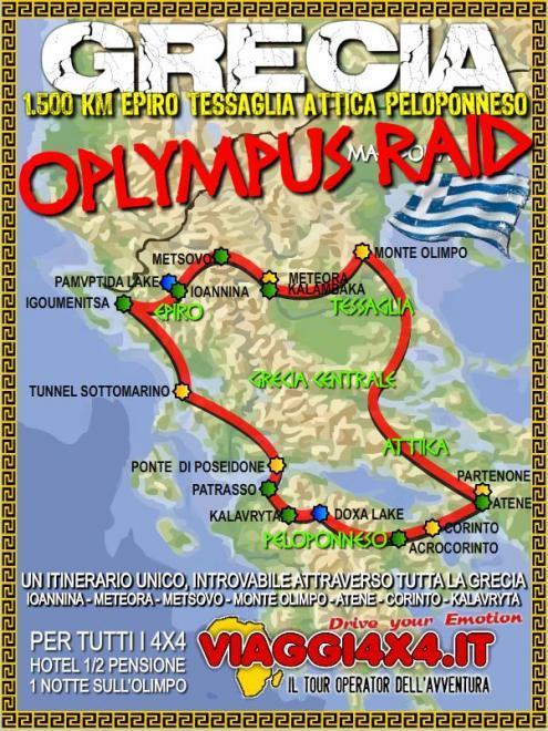 GRECIA E PELOPONNESO ESTATE 4X4 OLYMPUS RAID