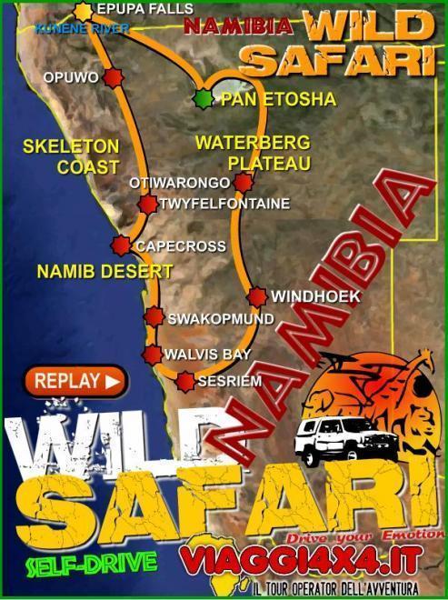 NAMIBIA 4X4 WILD LIFE ROADS